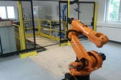 Robotermontage mit Schutzzaun-W