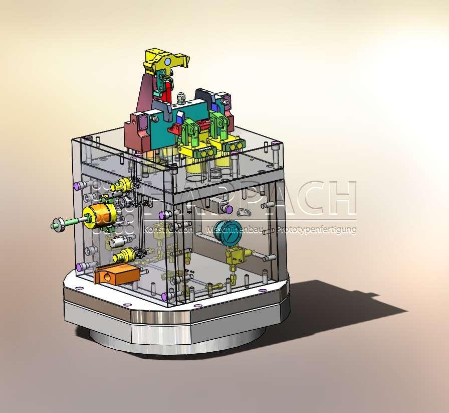 Fräsvorrichtung Bremssattel-CAD-W