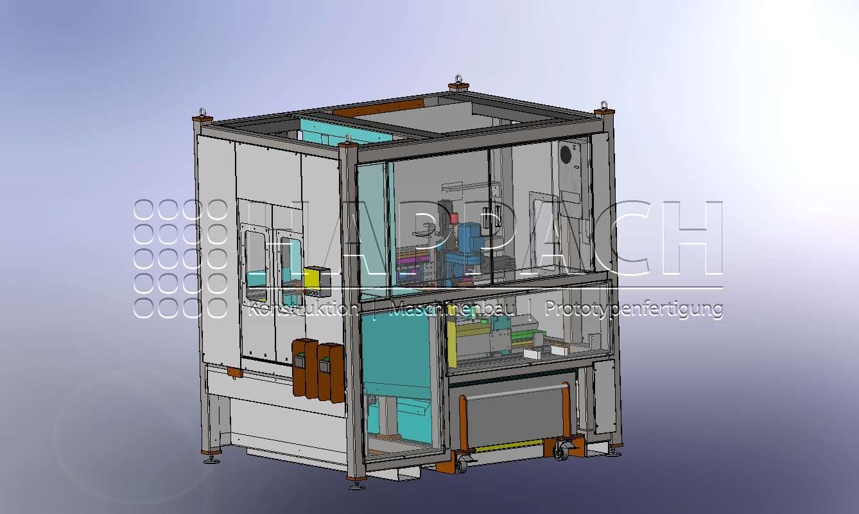 Fräsanlage für Zylinderköpfe-CAD-W