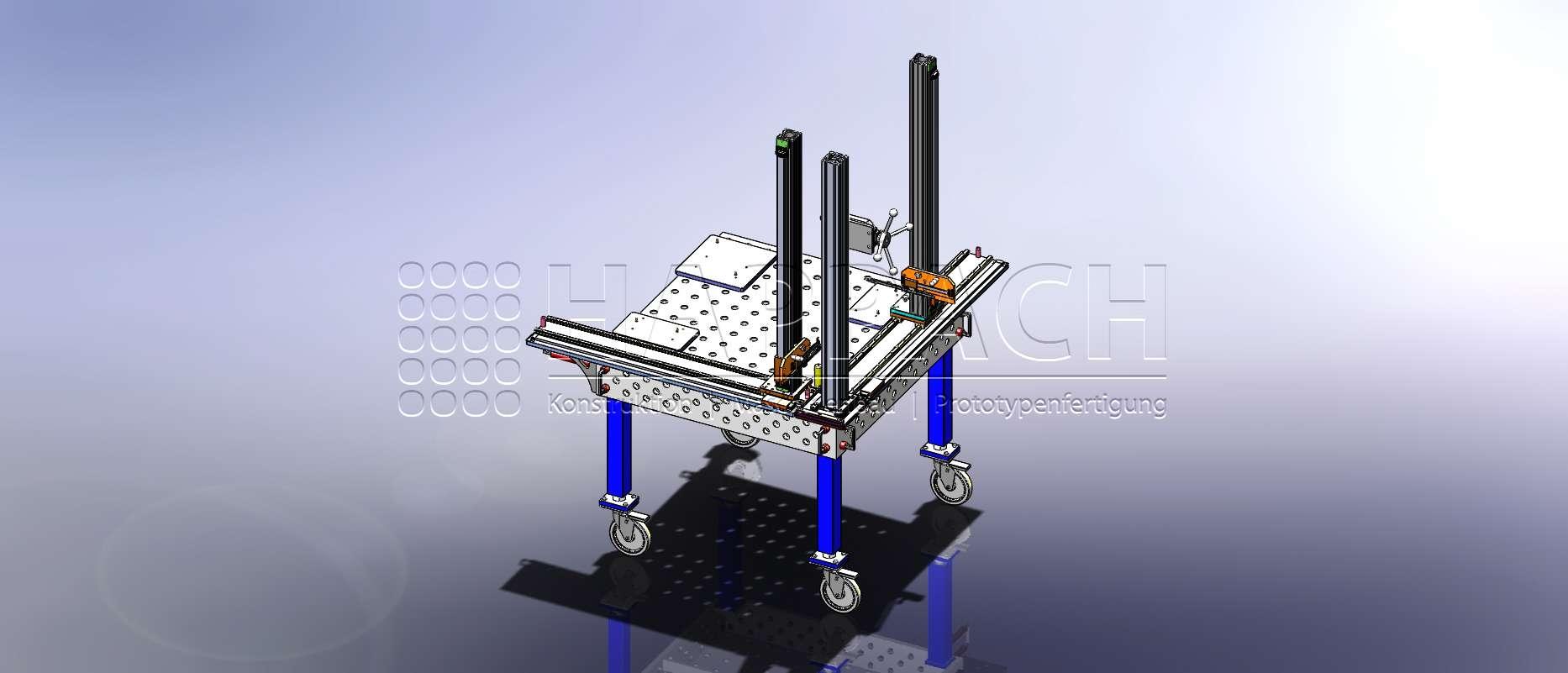 Prüfvorrichtung Blechteile CAD-W